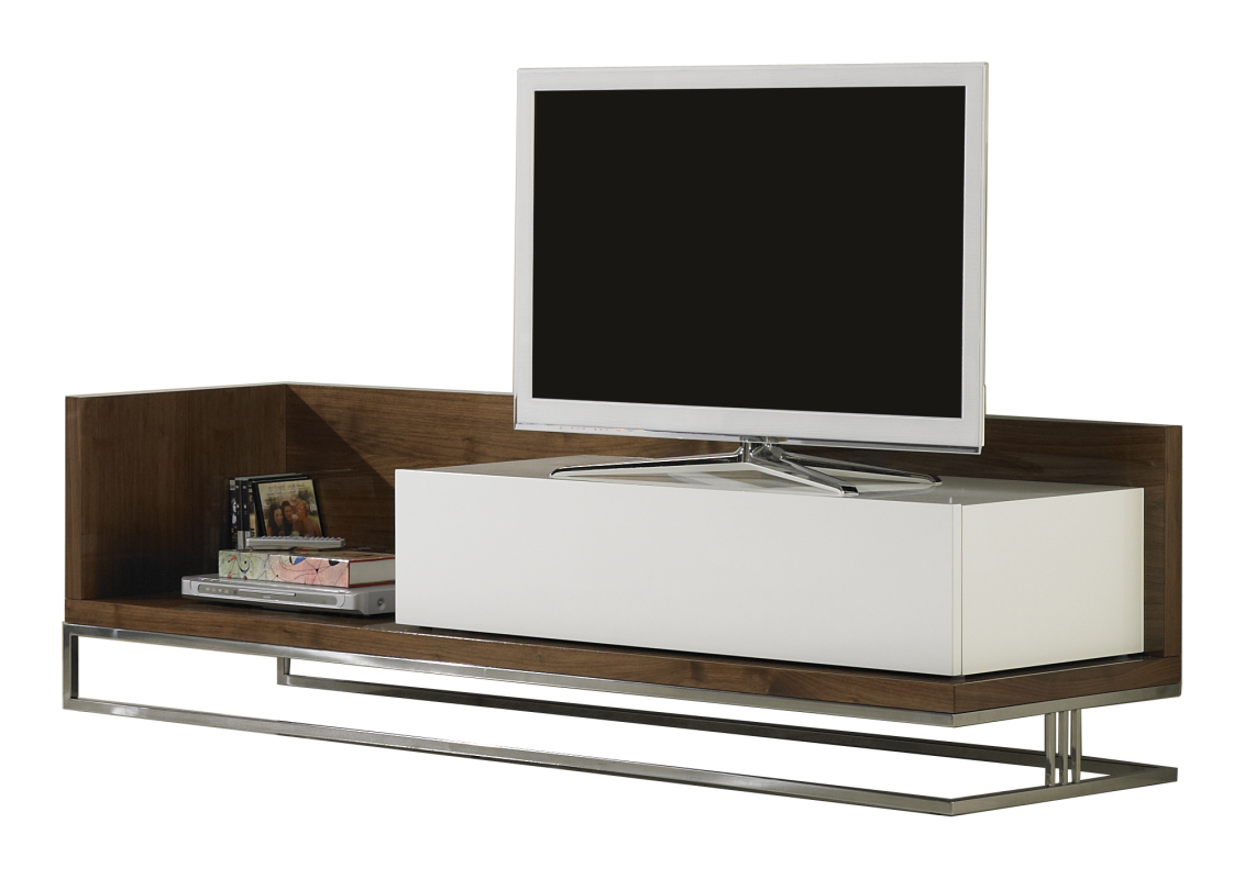 TV stand Londres | With tilting door module and stainless ...